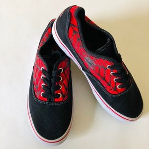 Marvel Spiderman Red Black White Low-Top Round toe